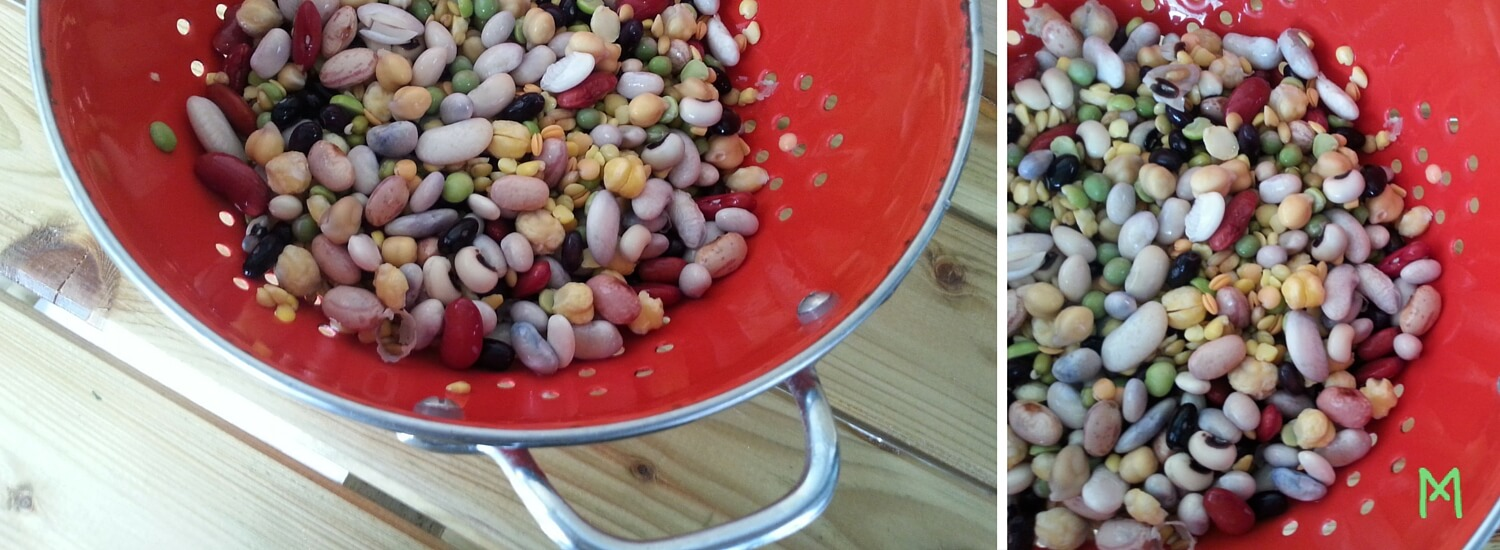 Pallikaria 10 to 15 legumes and seeds in one dish