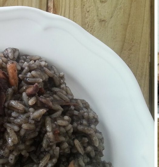 cuttlefish with black rice and ouzo